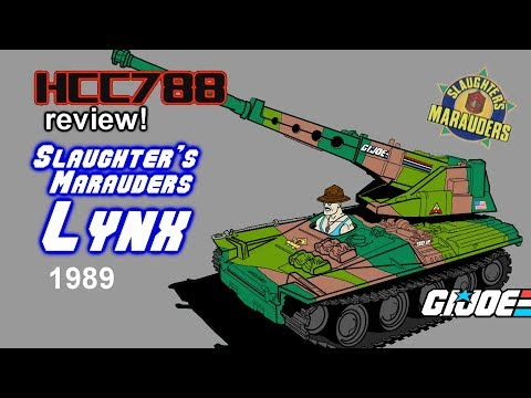 HCC788 - 1989 Slaughter's Marauders LYNX - Vintage G.I. Joe toy review!