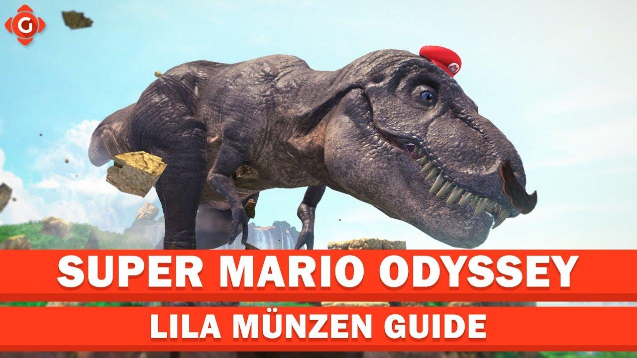 Super Mario Odyssey Alle Sammelobjekte Lila Münzen Kaskadenland