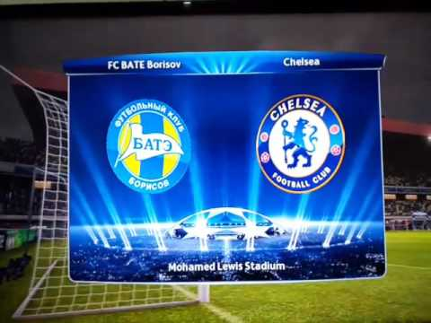 UEFA Champions League Anthem on FC BATE Borisov vs. Chelsea FC Group Stage 2015/2016