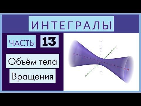 Интегралы №13 Объем тела вращения