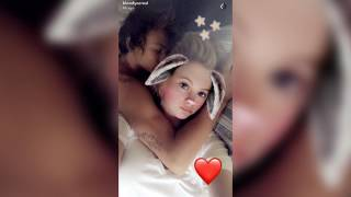 ireland baldwin enjoys morning snuggles with noah schweizer