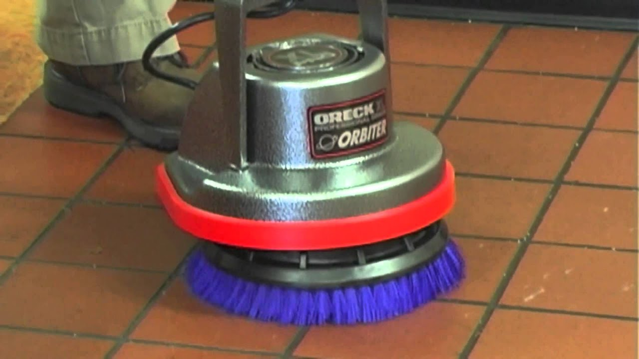 Oreck Orbiter Floor Machine Tile Cleaning Youtube