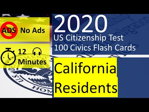 Citizenship Interview 2020 California Fast Version