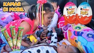 Liburan Seru Hana & Rafa 🚗Mobilnya Jadi Kamar Tidur - Beli Kinder Joy dan Makan Es Krim
