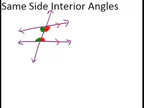Same Side Interior Angles Lesson Geometry Concepts Youtube