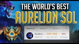 The World's best Aurelion Sol | 5.5 KDA and 67% Win Rate | Sweaty Asol ft Shiphtur, TF Blade
