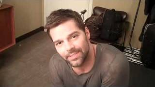Ricky Martin's Backstage Message to You!