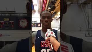 Jalen Duren: 2019 USA Basketball Junior Minicamp Interview