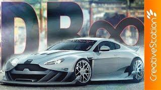 Aston Martin V8 Vantage Tunning - Speed art (#Photoshop) | CreativeStation