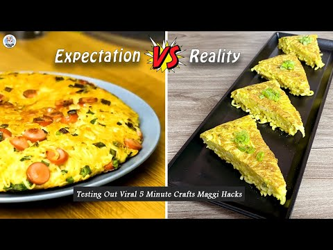 Testing Out Viral Food Hacks By 5 MINUTE CRAFTS | Testing Out 5 Minute Crafts Viral Maggi Hacks | HP