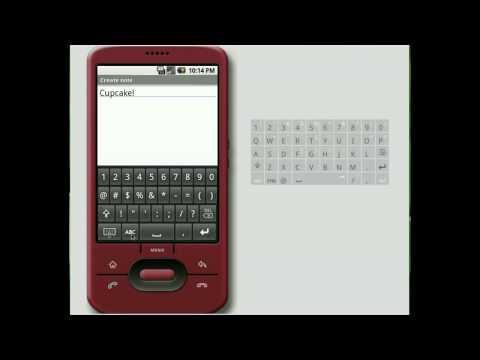 Android Cupcake Keyboard