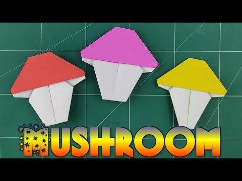 How To Make a Origami Mushroom for Kids | DIY Easy Mushroom Tutorial | Paper Kids Folding Craft