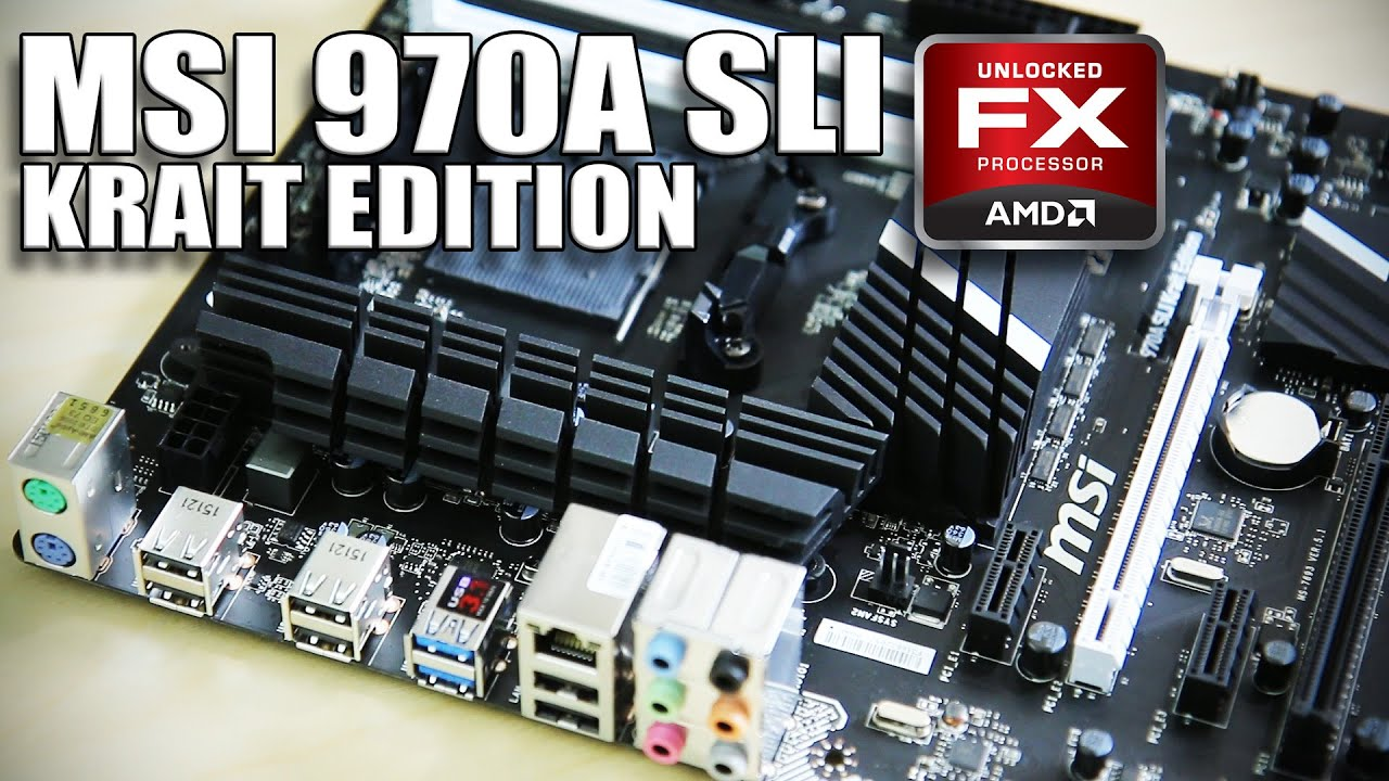 MSI AMD 970A SLI Krait Edition Motherboard Overview