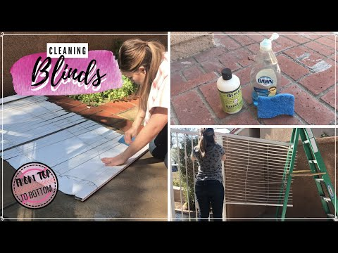 CLEANING KITCHEN BLINDS | CLEANING MOTIVATION | CLEAN WITH ME | 2019