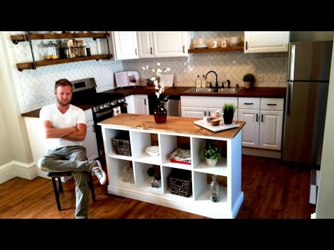 IKEA HACK Kitchen Island DIY Project YouTube - Kitchen islands at ikea