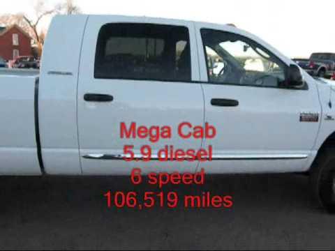 SOLD!!!2007 Dodge Ram 3500 4x4 5.9 Diesel Mega Cab Laramie Single ...