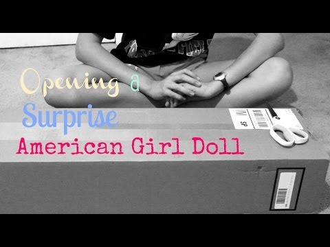 Opening a surprise American Girl Doll