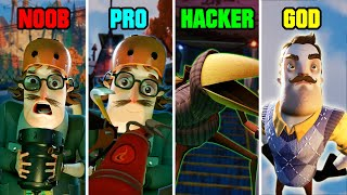 Hello Neighbor 2 NOOB vs PRO vs HACKER vs GOD