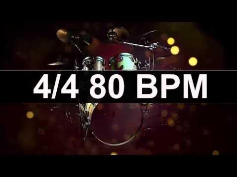 Drums Metronome 80 BPM