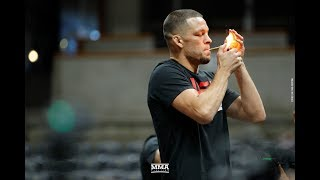 Nate Diaz Smokes Joint at UFC 241 Workouts - MMA Fighting