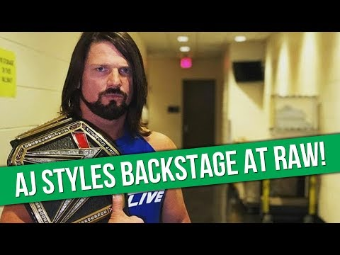 Download Youtube: AJ Styles Backstage At Tonight's WWE Raw   Roman Reigns On Steroid Allegations