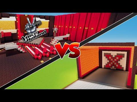 THE VOICE VS X FACTOR - Minecraft Mod Versus
