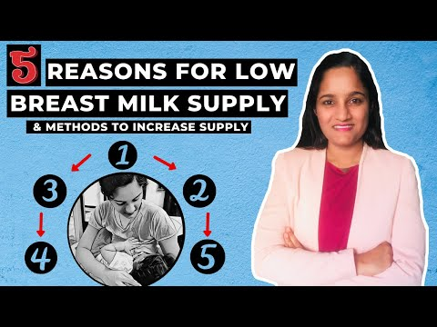 5 Reasons for Low Breast Milk Supply & Methods to Increase Milk Supply