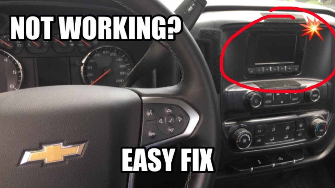 hight resolution of how to fix 2014 silverado radio not working problem in 1 minute