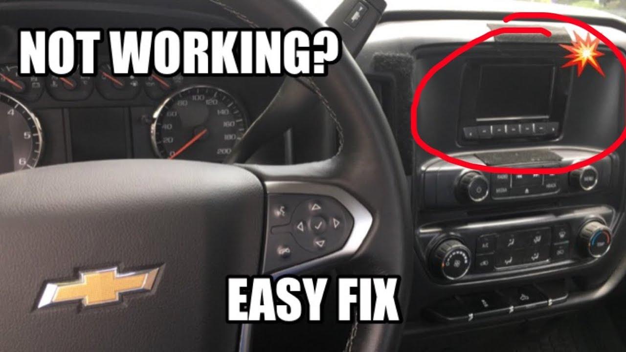 how to fix 2014 silverado radio not working problem in 1 minute [ 1280 x 720 Pixel ]