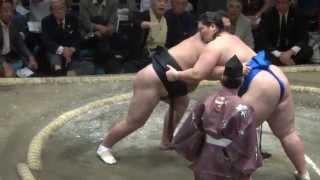 20140920 大相撲秋場所7日目 勢vs逸ノ城 勢 逸ノ城の連勝阻止.