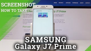 How to Take Screenshot in SAMSUNG Galaxy J7 Prime -  Capture Screen