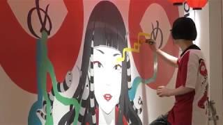 kansai yamamoto x Hiroyuki Mitsume Takahashi ライブペインティング第...