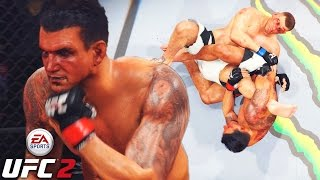 Frank Mir Has Slow Hands! Tap Or Snap! EA Sports UFC 2 Online Gameplay