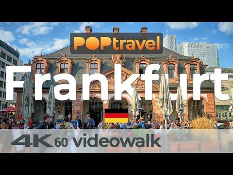 Walking in FRANKFURT (am Main) / Germany - 4K 60fps (UHD)