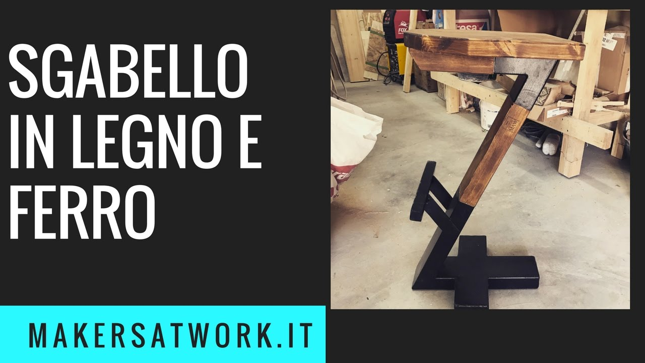 Sgabello in legno e ferro fai da te youtube for Youtube fai da te legno