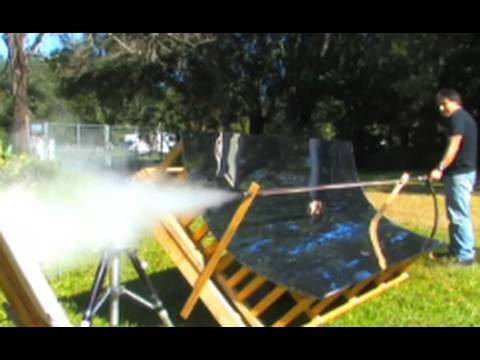 Flash Steam Cannon Solar Powered Gun Trough Mirror Free ener
