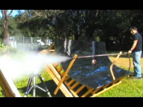 Flash Steam Cannon Solar Powered Gun Trough Mirror Free