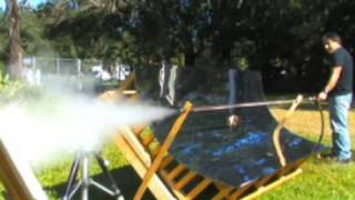 Flash Steam Cannon Solar Powered Gun Trough Mirror Free energy in minutes