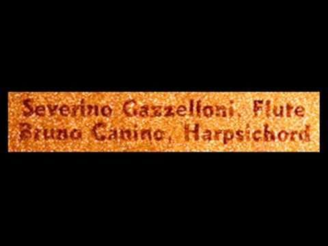 Bach / Gazzelloni / Canino, 1960s: Sonata in G minor for Flute and Continuo, BWV 1020