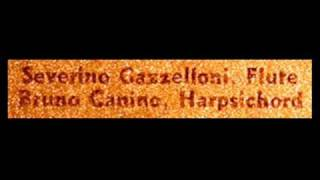 Bach / Gazzelloni / Canino, 1960s: Sonata in G minor for Flute and Continuo, BWV 1020