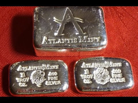 Limited Edition - Atlantis Mint HAND POURED bar / Skull and Flame / Eagle!!! +7 ozt.