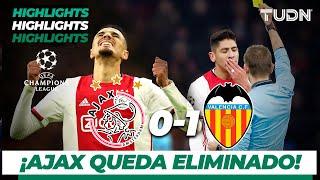 Highlights | Ajax 0 - 1 Valencia | Champions League - J 6 - Grupo H | TUDN