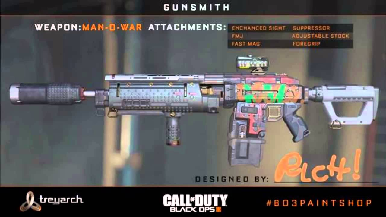 CALL OF DUTY BLACK OPS 3 IN GAME GUNSMITH IMAGES AT E3 CoD BO3 Multiplayer Gunsmith Images