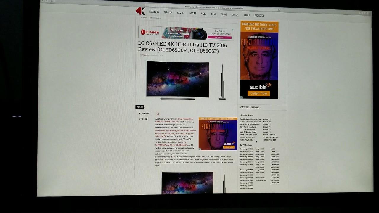 News on X15 & X16 4K HDR Comcast Xfinity & 4K com review on LG OLED C6P