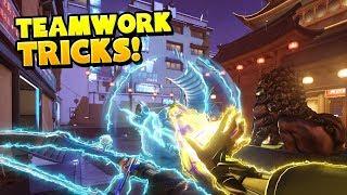Crazy Teamwork Tricks - Overwatch Montage