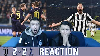 BARÇA & MADRID FANS REACT TO: JUVE 2-2 DRAW OVER TOTTENHAM - REACTION