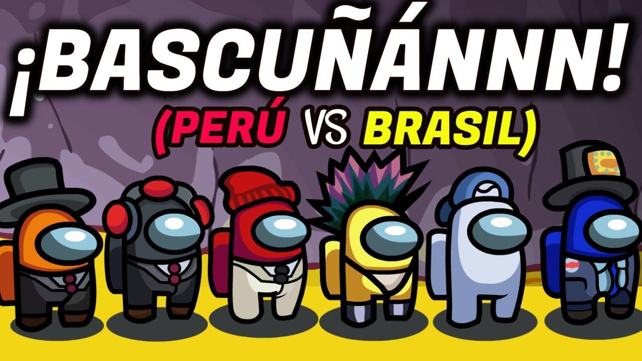 BASCUÑÁN y NEYMAR en AMONG US : PERÚ VS BRASIL / ¡MESSI TENÍA RAZÓN!