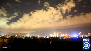 DWD Webcamfilm Offenbach West 2015 Juli