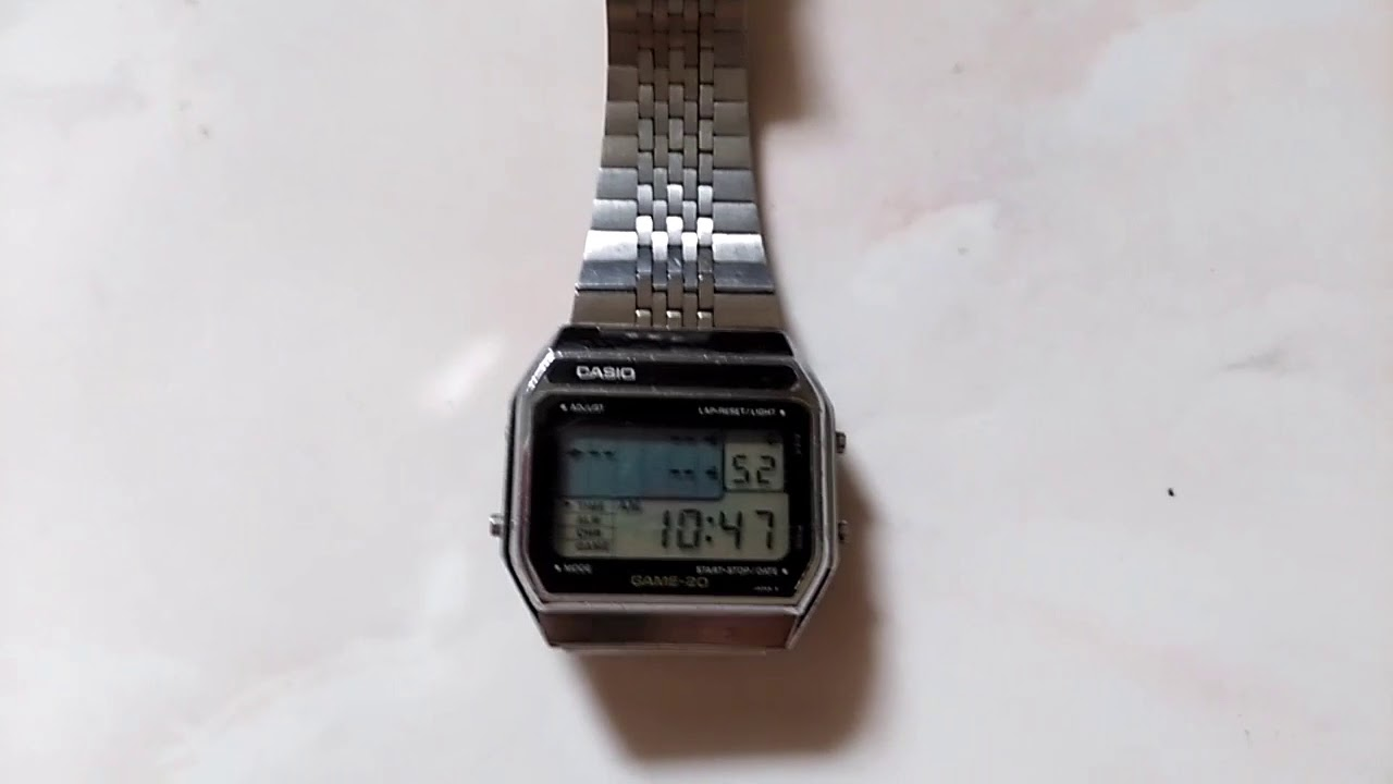 Vintage Casio GM 20 game watch