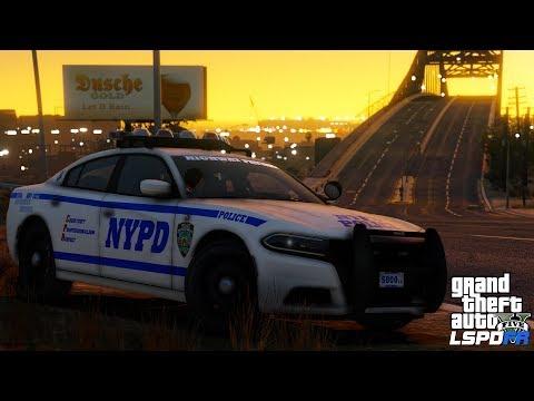 GTA 5 LSPDFR #536 | NYPD Highway Patrol 2016 Dodge Charger | VIP Escort & Traffic Enforcement